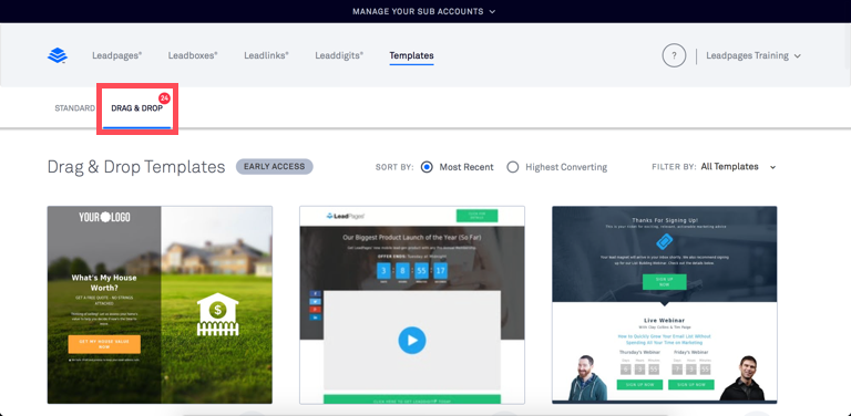 Leadpages Drag And Drop